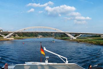 Waldschlösschenbrücke  Dresden Sachsen Deutschland by Peter Ehlert in Dresden Weekend
