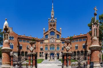 Eingangstor mit Hauptportal  Barcelona Catalunya Spanien by Peter Ehlert in Barcelona Stadtrundgang