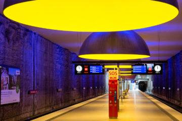 Westfriedhof  München Bayern Deutschland by Peter Ehlert in Munich Subway Stations