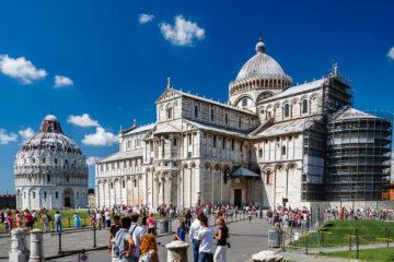 Battistero di San Giovanni und Cattedrale di Pisa  Pisa Toscana Italien by Peter Ehlert in Abstecher nach Pisa