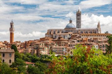 Blick auf den Dom und die Altstadt  Siena Toscana Italien by Peter Ehlert in Siena auf der Durchreise