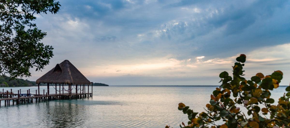 Pier mit Häuschen by Peter Ehlert in Buenavista Quintana Roo Mexiko