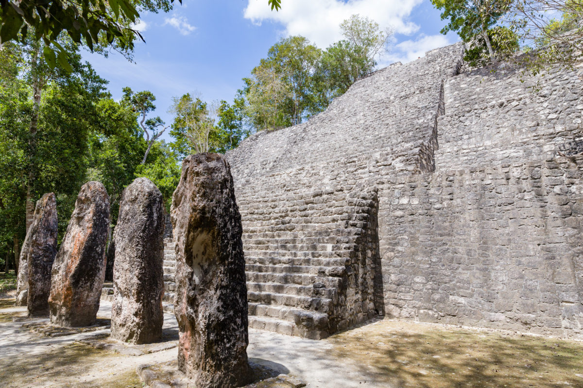 Estructura 7 by Peter Ehlert in Calakmul Campeche Mexiko