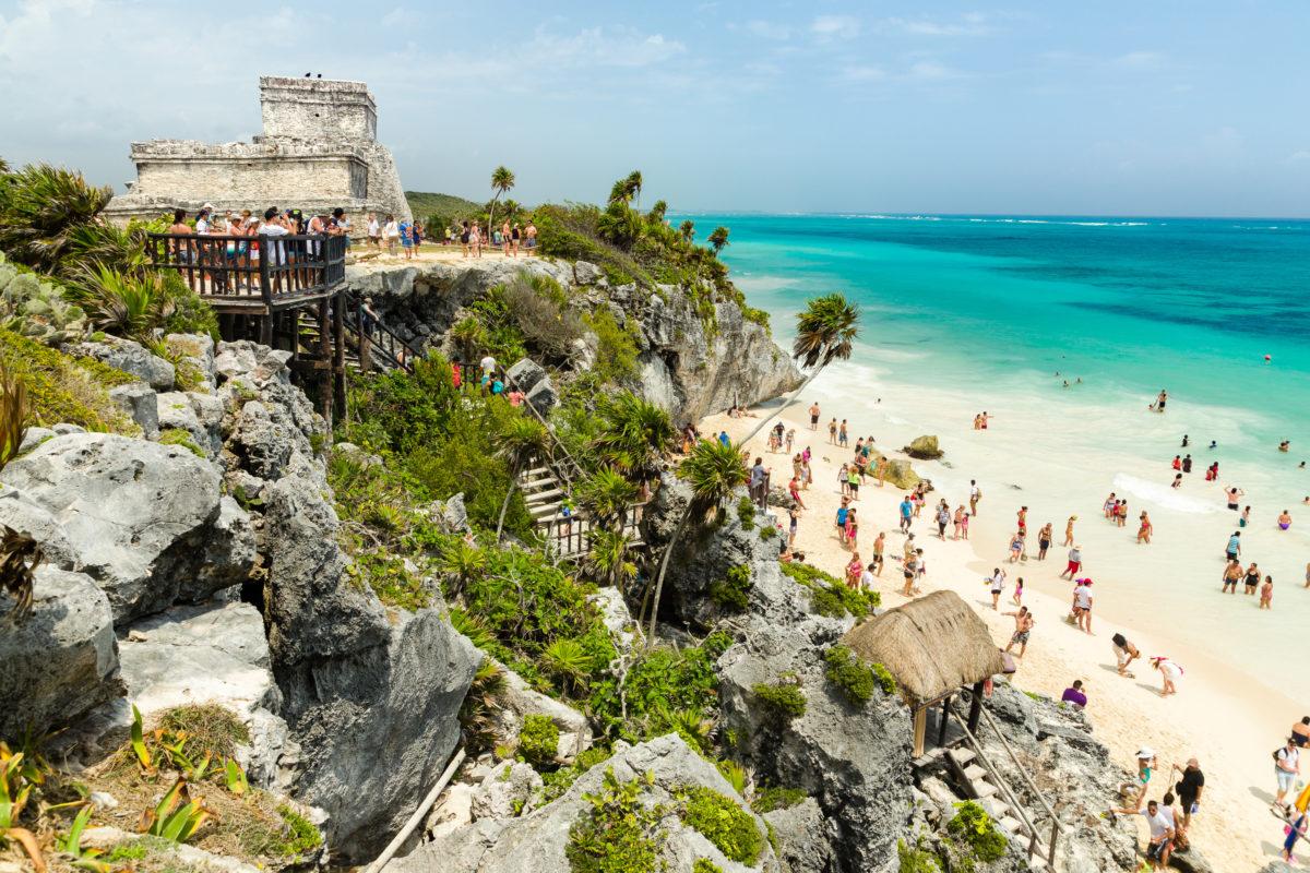 Ruine mit Badestrand by Peter Ehlert in Tulum Quintana Roo, Mexiko