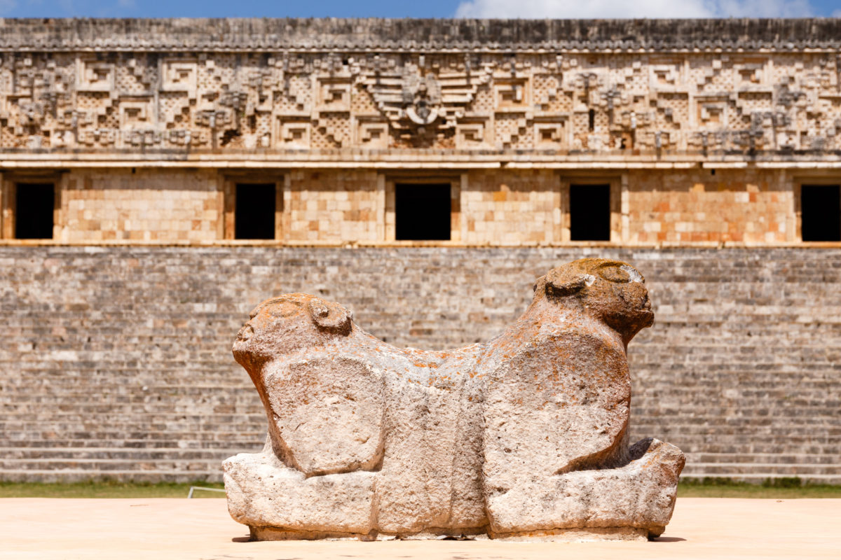 Leoparden Thron, by Peter Ehlert in Uxmal Yucatán Mexiko