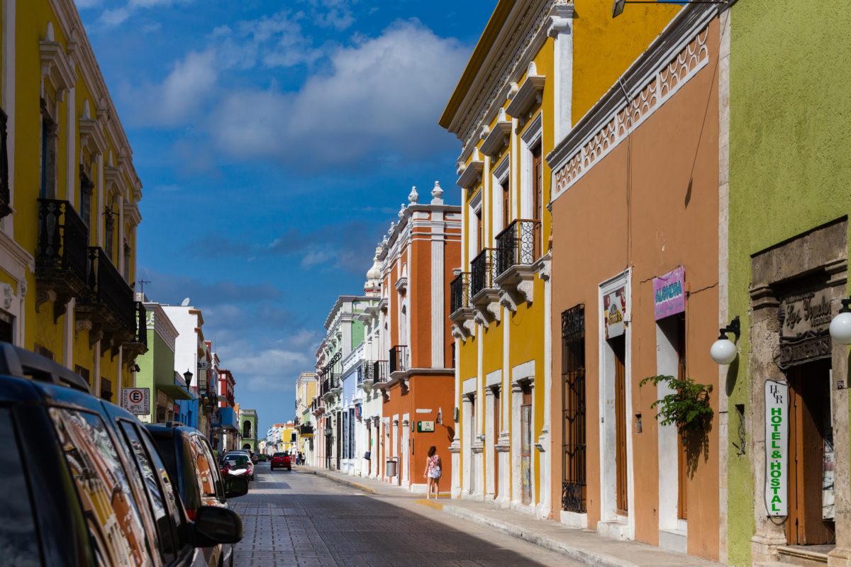 Strasse mit bunten Häusern by Peter Ehlert in Campeche Campeche Mexiko