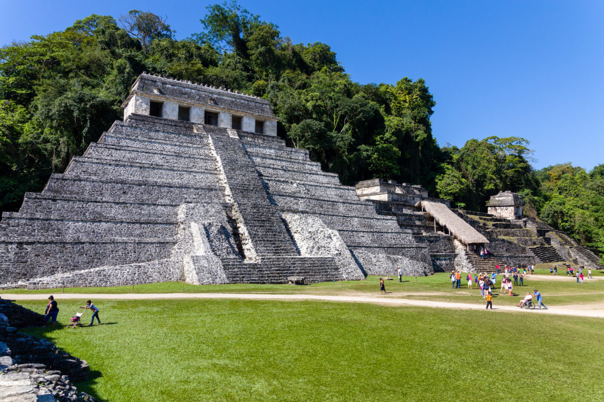 Templo de la Inscripciones by Peter Ehlert in Palenque Chiapas Mexiko