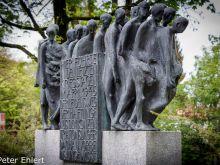 Gedenkskulptur  Dachau Bayern Deutschland by Peter Ehlert in Gedenkfeier zur Befreiung des KZ Dachau