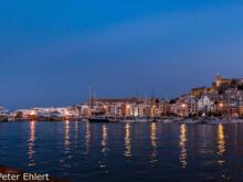 Blaue Stunde  Ibiza Stadt Balearische Inseln - Ibiza Spanien by Peter Ehlert in Ibiza - Insel des Lichts