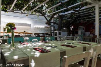 Restauranttische  San Carles Balearische Inseln - Ibiza Spanien by Peter Ehlert in Ibiza - Insel des Lichts