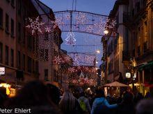 Geschmückte Rue Austerlitz  Strasbourg Grand Est Frankreich by Peter Ehlert in Weihnachtsmarkt 2017 Straßburg