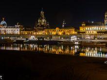 Abendlicher Blick auf Altstadt  Dresden Sachsen Deutschland by Peter Ehlert in Dresden Weekend
