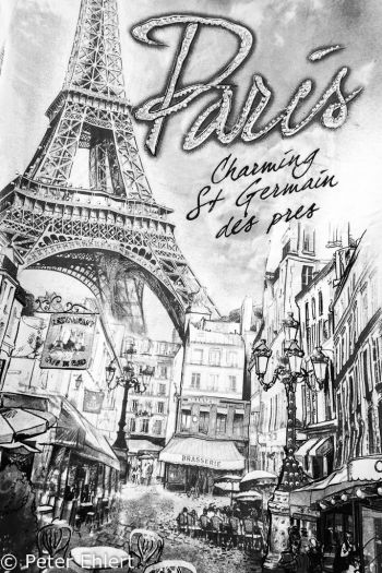 T-Shirt Aufdruck  Paris Île-de-France Frankreich by Peter Ehlert in Paris, quer durch die Stadt