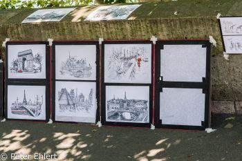 Zeichnungen am Seineufer  Paris Île-de-France Frankreich by Lara Ehlert in Paris, quer durch die Stadt