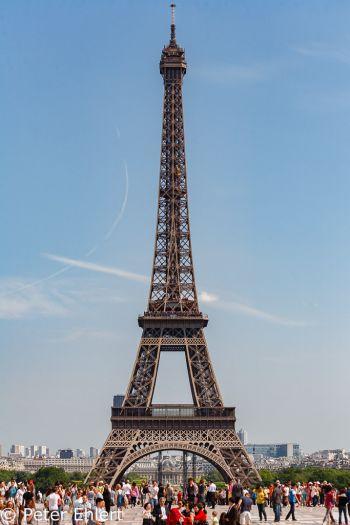 Eiffelturm vom Trocadero  Paris Île-de-France Frankreich by Peter Ehlert in Paris, quer durch die Stadt