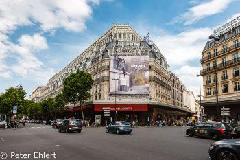 Galeries Lafayette Gebäude  Paris Île-de-France Frankreich by Peter Ehlert in Paris, quer durch die Stadt