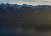 Abendsonne über dem Genfer See  Chexbres Vaud Schweiz by Peter Ehlert in Wochenende am Genfer See