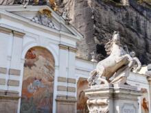 Pferdeschwemme  Salzburg Salzburg Österreich by Peter Ehlert in Salzburg mit Schloss Hellbrunn