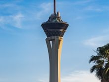 Stratosphere Tower  Las Vegas Nevada  by Peter Ehlert in Las Vegas Downtown