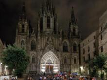 La Catedral de la Santa Creu i Santa Eulàlia  Barcelona Catalunya Spanien by Peter Ehlert in Barcelona Stadtrundgang