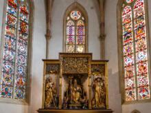 Altarschrein mit der Schreinplastik  Colmar Alsace-Champagne-Ardenne-Lorrain Frankreich by Peter Ehlert in Colmar Weekend
