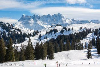 Blick auf Massif du Chablais  Champéry Valais Schweiz by Peter Ehlert in Skigebiet Portes du Soleil