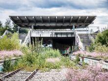 Bahnhof  München Bayern Deutschland by Peter Ehlert in lost place Bahnhof München Olympiastadion