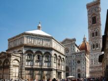 Cattedrale die Santa Maria del Fiore mit Campanile di Giotto und  Firenze Toscana Italien by Peter Ehlert in Florenz - Wiege der Renaissance