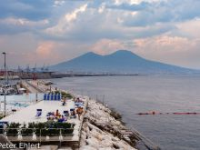 Schwimmbad mit Vesuvblick  Neapel Campania Italien by Peter Ehlert in Pompeii und Neapel
