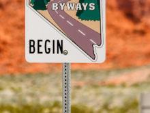 Park Einfahrt   Nevada USA by Peter Ehlert in Valley of Fire - Nevada State Park