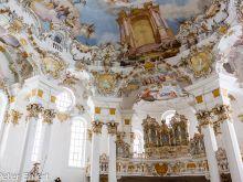 Orgel und Decke  Steingaden Bayern Deutschland by Peter Ehlert in Wieskirche im Winter