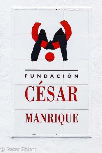 Eingangsschild  Teguise Canarias Spanien by Peter Ehlert in LanzaroteFundacion