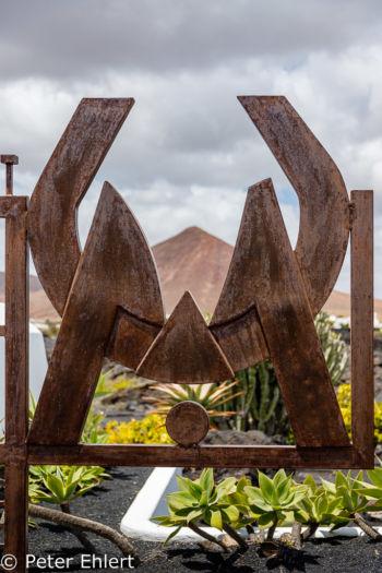 CM Logo aus Eisen  Teguise Canarias Spanien by Peter Ehlert in LanzaroteFundacion
