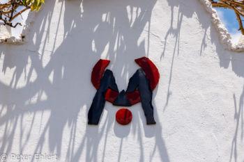 CM Logo auf Mauer  Teguise Canarias Spanien by Peter Ehlert in LanzaroteFundacion