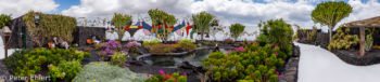 Garten mit Teich und Mosaikwand  Teguise Canarias Spanien by Peter Ehlert in LanzaroteFundacion
