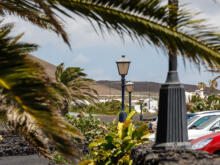 Garten und Parkplatz  Teguise Canarias Spanien by Peter Ehlert in LanzaroteFundacion