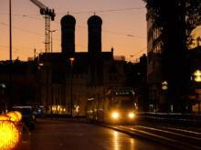 Frauenkirche mit Tram  München Bayern Deutschland by Peter Ehlert in WiesnWorkshop2018