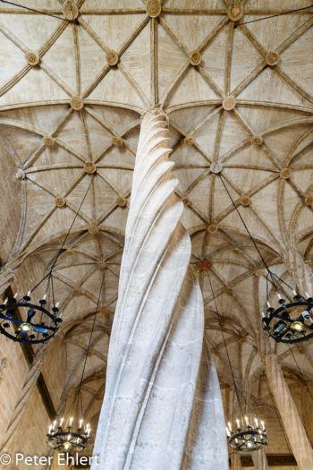 Säule mit Deckengewölbe  Valencia Provinz Valencia Spanien by Peter Ehlert in Valencia_Seidenbörse