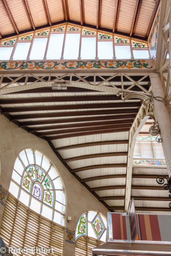 Dachkonstruktion  Valencia Provinz Valencia Spanien by Lara Ehlert in Valencia_mercat_central