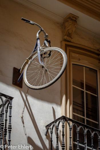 Vorderrad an Hauswand  Valencia Provinz Valencia Spanien by Lara Ehlert in Valencia_Stadtrundgang