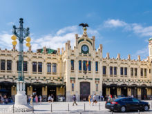 Eingangsportal  Valencia Provinz Valencia Spanien by Peter Ehlert in Valencia_Nordbahnhof