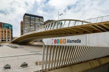 Asymetrische Brücke  Valencia Provinz Valencia Spanien by Peter Ehlert in Valencia_Alameda